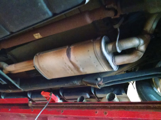 rusting exhaust pipes